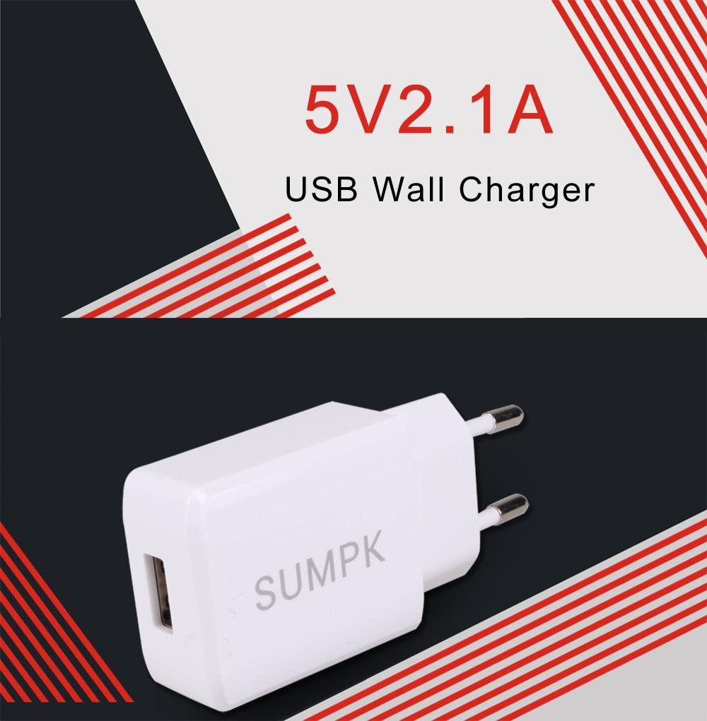 SUMPK 5V2.1A USB-väggladdare EU USA-kontakt Universal mobiltelefon - Reservdelar och tillbehör för mobiltelefoner - Foto 3
