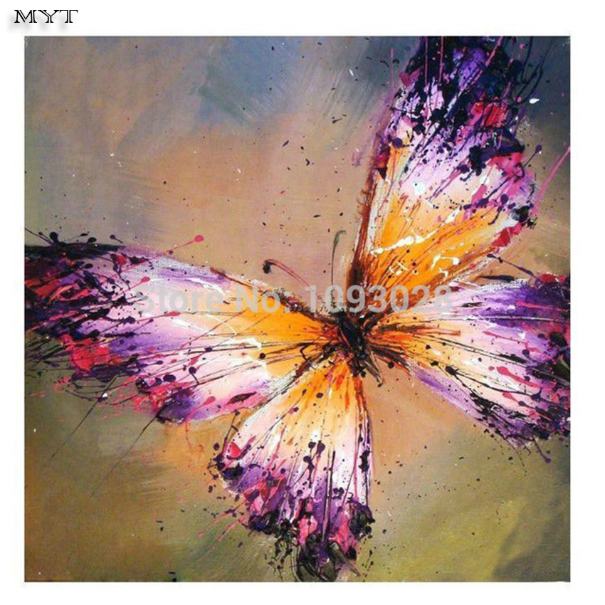 Handmade picture oil hot sell free shipping butterfly for Sell abstract art online