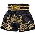 Ebuy360 Twins Muay Thai Training Boxing Trunks Acrylic Cotton Blended Sanda Fight Muay Thai Shorts Trunks Golden Silver