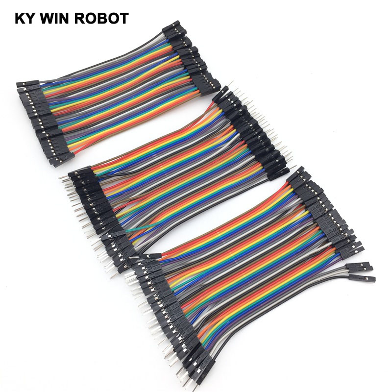 Dupont Line 120pcs 10cm Male To Male Electronic Components & Supplies Female To Male And Female To Female Jumper Wire Dupont Cable For Arduino Diy Kit