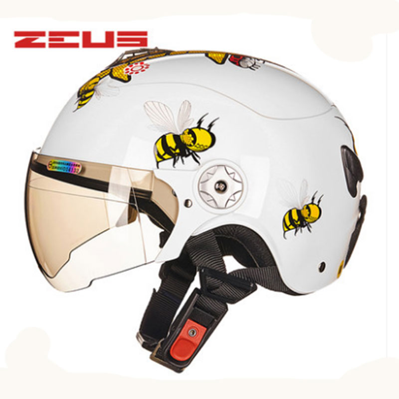 ZEUS Brand Motorcycle Parent-child Helmet Protective Gear Children Half Helmet Easy Women's Cute Bike Helmet ABS 45-52cm 54-57cm mini motorcycle helmet keychain cute keyring