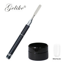 Gelike 1pcs Nail Art Round Top Acrylic Poly UV Gel Extension Builder Coating Builder Flower Painting Drawing Brush Manicure Tool