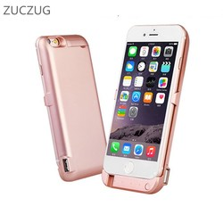 ZUCZUG Battery Charger Case For iphone 6plus 6splus Backup External Battery Power Bank For 6 6s plus Portable Powerbank Case