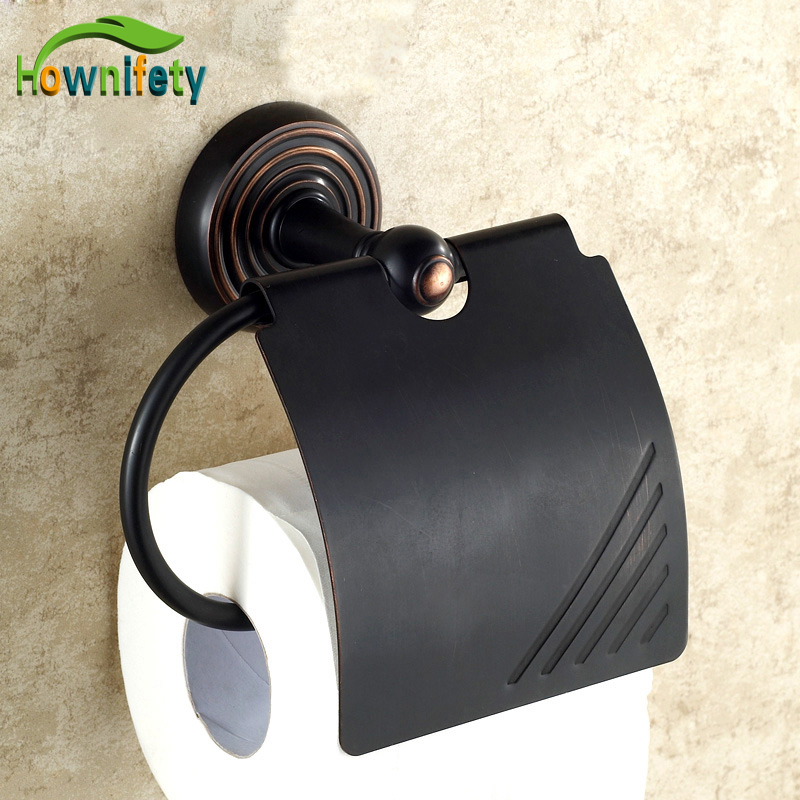 Luxury Wall Mounted Oil Rubbed Bronze Finish Toilet Paper Holder Paper Holder Box Bathroom Accessories oil rubbed bronze toilet paper holder wall mount tissue box