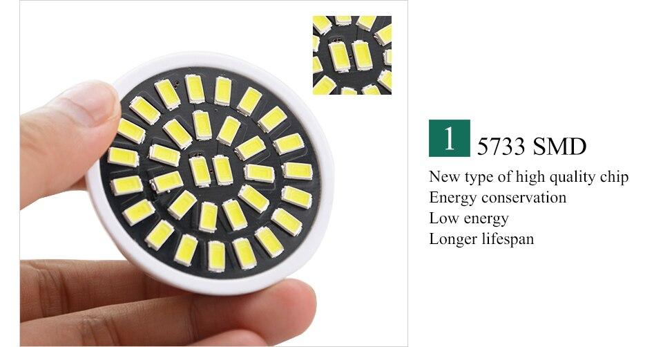 Led Spotlight Bulb E27 GU10 MR16 Led Lamp 220V 5W 7W 9W 18 24 32 Leds 5733 Bombillas Lampada (6)