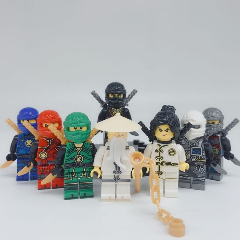 100 zestawy Building Blocks figurki cegły DIY zabawki kompatybilny dane Ninja zawodów na prezent w Klocki od Zabawki i hobby na  Grupa 1