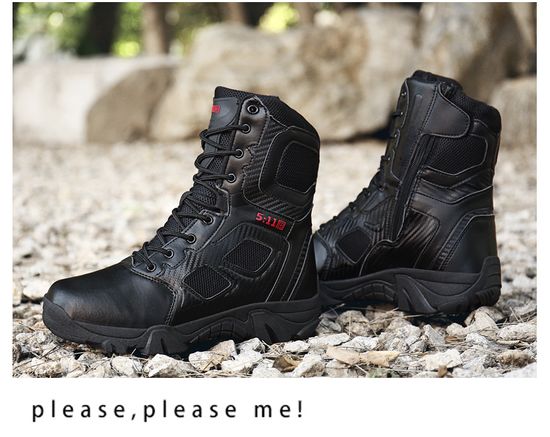 Brand Men\'s Boots Big Size Military boot Chukka Ankle Bot Tactical Army Male Shoes Safety Combat Mens Motocycle Boots (15)