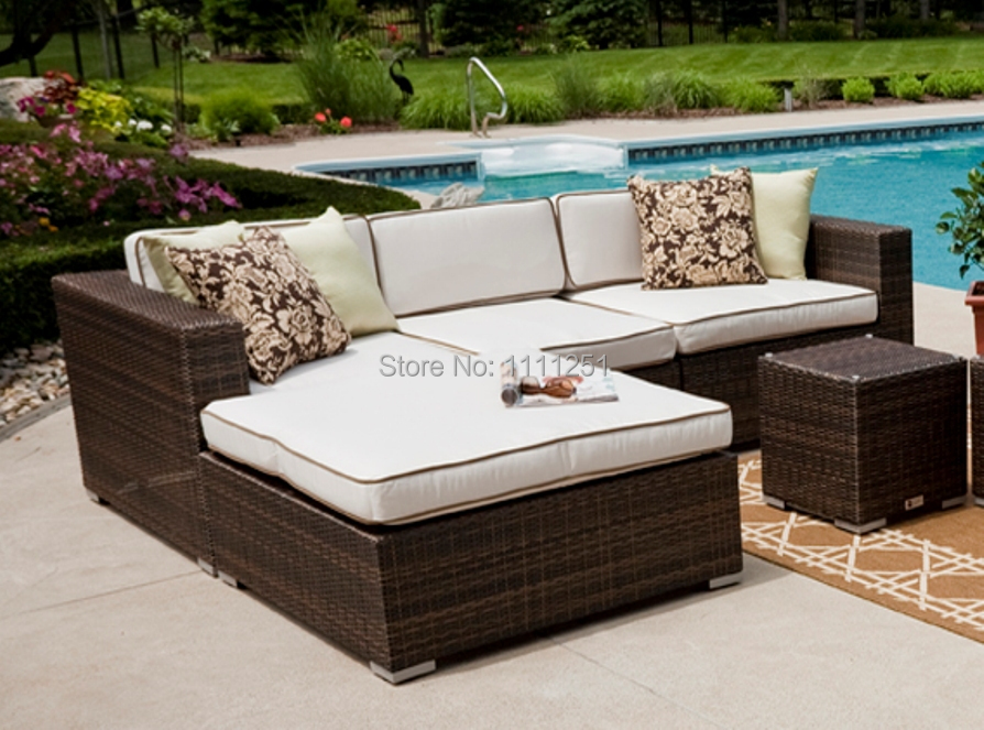 2017the Lucia Collection All Weather Wicker Patio Furniture Deep Seating Sectional