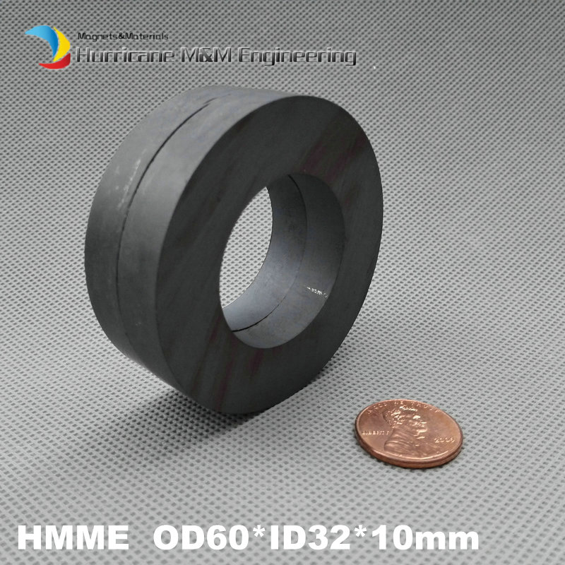 4 pcs Ferrite Magnet Ring OD 60x32x10 mm 2.4 large grade C8 Ceramic Magnets for DIY Loud speaker Sound Box board home use