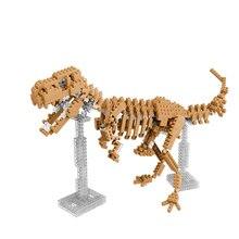 3D Mini Nano Diamond Dinosaur Fossil Skull Animal Model Set Toys Building Bricks Educational DIY Action Figure Toy