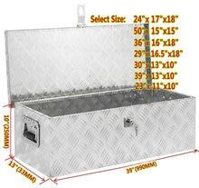 1,2 MM 1,5 MM Aluminium checker platte Pickup Lkw Unter Flache Bett Camper Werkzeug Box Trailer ATV RV Unterboden Lagerung + T-Lock 50