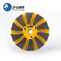 Z Lion Concrete Floor Polishing 3 80mm Metal Diamond Polishing Pad High Quality Grinding Disc Wet