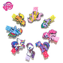 8pcs/set My Little Pony For Girls Hair Clips Hairpins Cartoon&Movies Model For Kids Girls Christmas New Year Gifts(China)