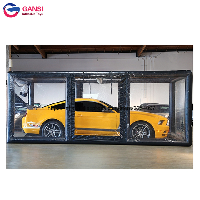 Black Vehicle Shelters : Indoor showcase tent for parking vehicles commercial