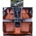 free shipping EU approval fiber leather car floor mat for skoda superb 2nd generation 2008 2009 2010 2011 2012 2013 2014 2015