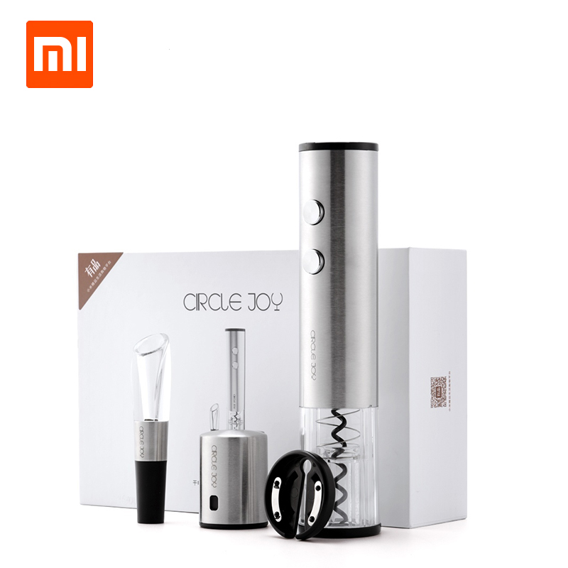 Xiaomi Circle Joy Electric Bottle Opener 4 in 1 Gift Box Set 304 Stainless Steel Packaging