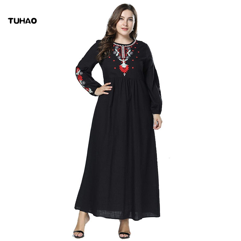 5b5025bd60 Detail Feedback Questions about TUHAO 2018 FALL dress elegant winter women s  dresses plus size 4XL 3XL female bohemian casual dresses large size clothing  ...