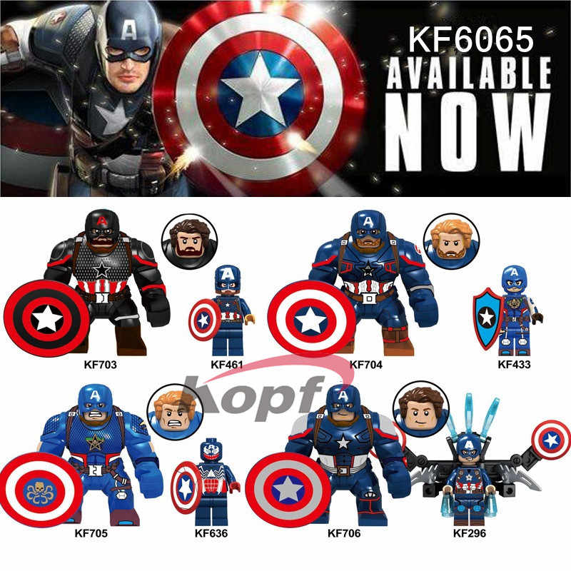 Big Figures Super Heroes Captain America Building Block Collection Toys Spider-Man Action Figure Iron Man Brick Blocks KF6065