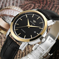 Элегантные модные деловые мужские часы AILANG  часы из натуральной кожи с календарем  механические Аналоговые часы с автоподзаводом  Relojes 3ATM ...