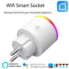 الشواحن الذكية للاتحاد الأوروبي Wifi مأخذ (فيشة) ذكي الموقت الجلاد الطاقة مراقبة الطاقة التوقف يعمل مع جوجل المنزل البسيطة اليكسا IFTTT