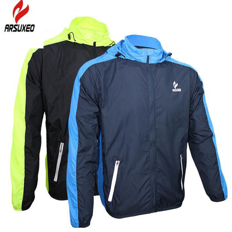 ARSUXEO Outdoor MTB Bike Men Jacket Rain Sports Raincoat Windbreaker Waterproof Quick-drying Bicycle Running Cycling Jacket 2015 arsuxeo mtb 1202