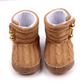 Cute Bear Baby Boots Hook and Loop Warm Baby Toddler Boy Girl Winter Boots Shoes 0-12 Months