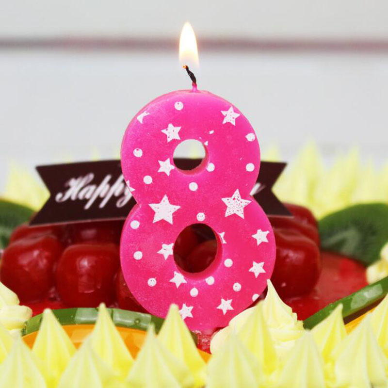 1 Pcs/set Cute Cartoon Boys Girls Blue Pink Candles Birthday Numbers Candles Cake Decoration Candles Party Candles Supplies