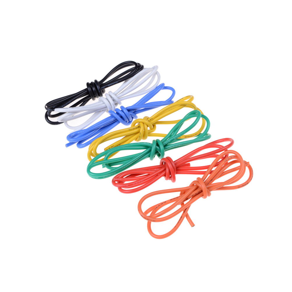 1M High Quality Gauge 14 AWG Silicone Rubber Wire Cable Flexible ...