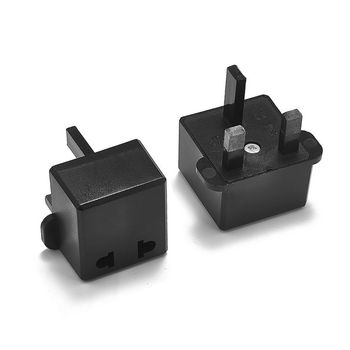 100pcs Universal UK Power Adapter US EU European To British UK Travel Plug Adapter AC Power Cord Cable Socket Electrical Outlet