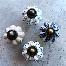 Ceramic Cabinet Cupboard Vintage Pull Handle Door Knobs Wardrobe Drawer Ceramic Knob For Home Improvement цена
