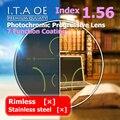 Взрослый 1.56 Freeform Индекс Фотохромные Переход Прогрессивные Мультифокальные Дополнение Оптический Рецепт Объектив Очки 7 Покрытие