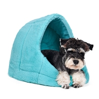 Free Shipping Animal Kennel Dog Cat House Pet Soft Cozy Plush House Mat Removable Lovely Novel Bed High Quality 4 Colors