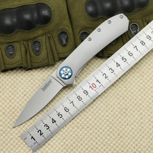 TIGEND 3871 flipper folding knife 8Cr13Mov blade nylon fiberglass + steel handle camping knife hunting fruit knife EDC tool