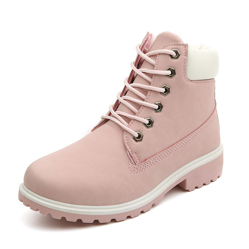 84b43ddafb72b New 2019 Autumn Early Winter Shoes Women Flat Heel Boots Fashion Women's  Boots Brand Woman Ankle Botas Hard Outsole ZH813