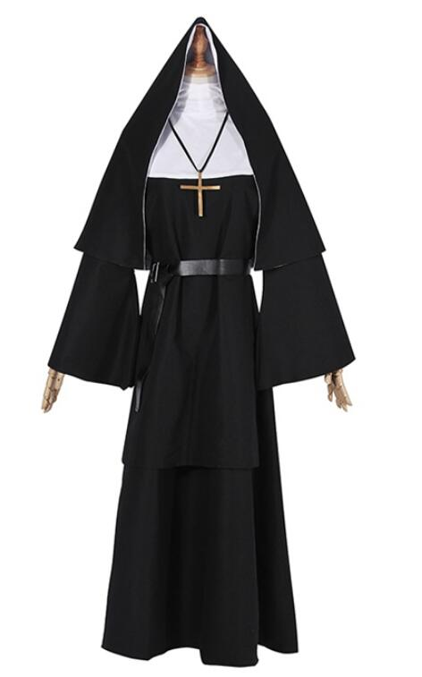 Halloween Costume The Nun Cosplay cloak hat 2018 Horror Films Cosplay Cross Ghost Halloween Costume The Conjuring Dress Costume