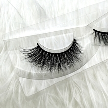 Free shipping D003 1pcs/lot 100% real siberian 3d mink fur strip false eyelash long individual eyelashes mink lashes extension