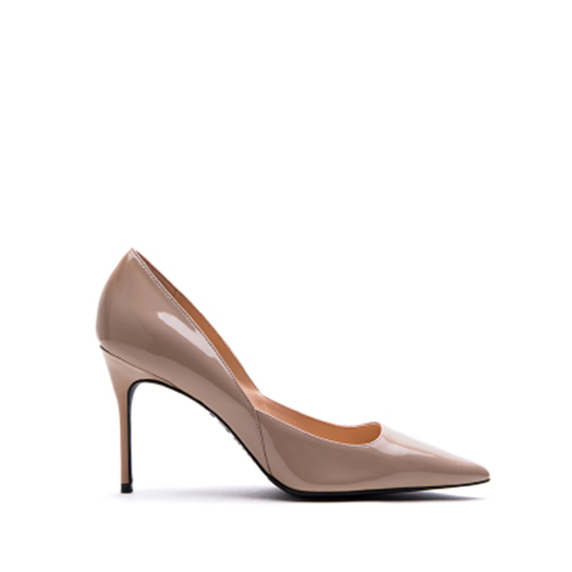 e3633650713e0 Size 4 34 Genuine Leather Office Green High Heels Shoes Nude Patent Scarpin  Peach Ladies Yellow Pointed Toe Pumps Court Designer