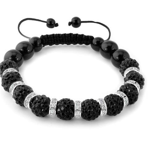 free shipping 10mm white black multicolor free shipping Micro Pave Disco bead Crystal Shamballa Bracelet women jewelry