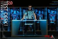 1/6 Iron Man Tony Acrylic Holographic Workshop Scene Test Desk 2.0 Figure Accessory TB028 F 12 inches Figure Doll DIY