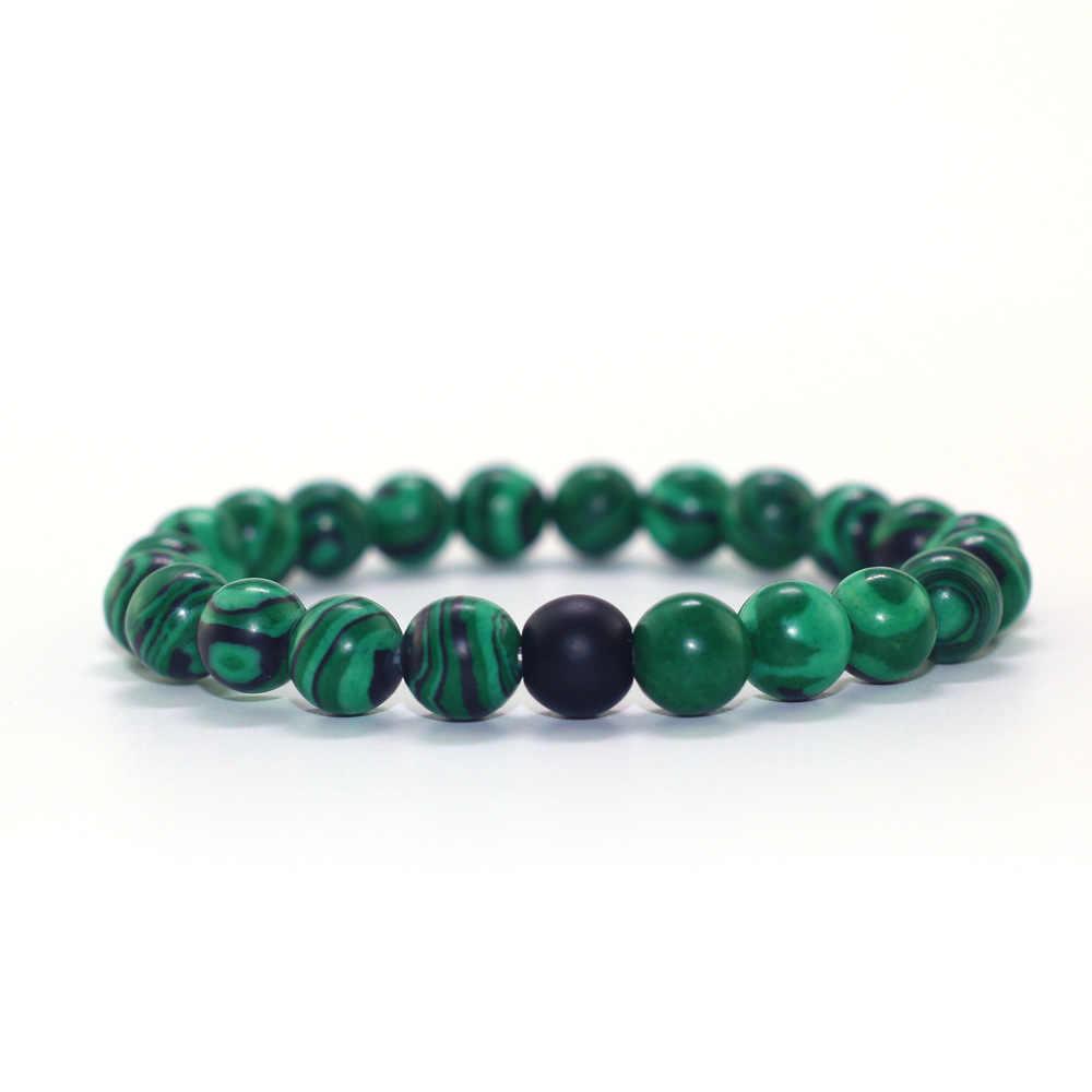 Ретро Мужские и женские Парные браслеты с натуральным деревом и камнем из бисера винтажные женские браслеты из матового камня оптом браслеты из камней