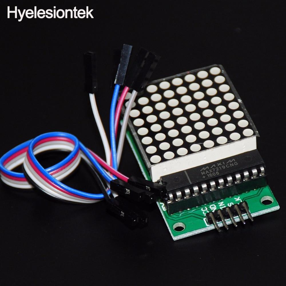 MAX7219 Serial Dot Matrix Module For Arduino MAX7219 Dot Matrix Red LED Display Starter Kit Board Microcontroller Module