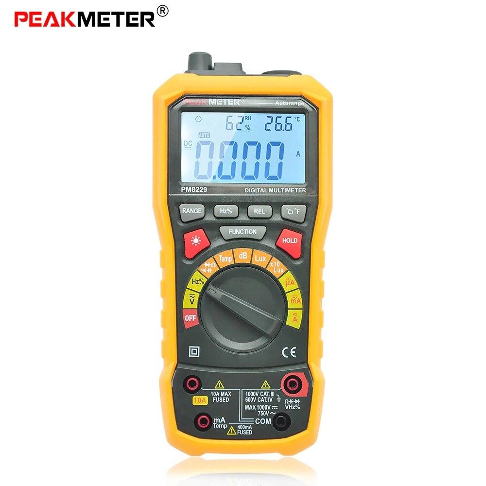 2018 PEAKMETER MS8229 Multifunctional Digital Multimeter Auto / Manual Ranging DC AC Voltmeter Tester peakmeter ms8229 auto range 5 in 1 multifunctional handheld 2 8 auto digital multimeter