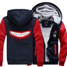 New Tokyo Ghoul Kaneki Ken Chaqueta de Invierno Con Capucha de Lana Para Mujer Para Hombre Sudaderas de Gran Tamaño Cosplay Envío Gratis