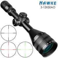 Optics Sight 3 12X50 Scopes Big Caliber Hunting Riflescopes Compact Scope Mildot Rangefinder Reticle Red Green Cross Hair