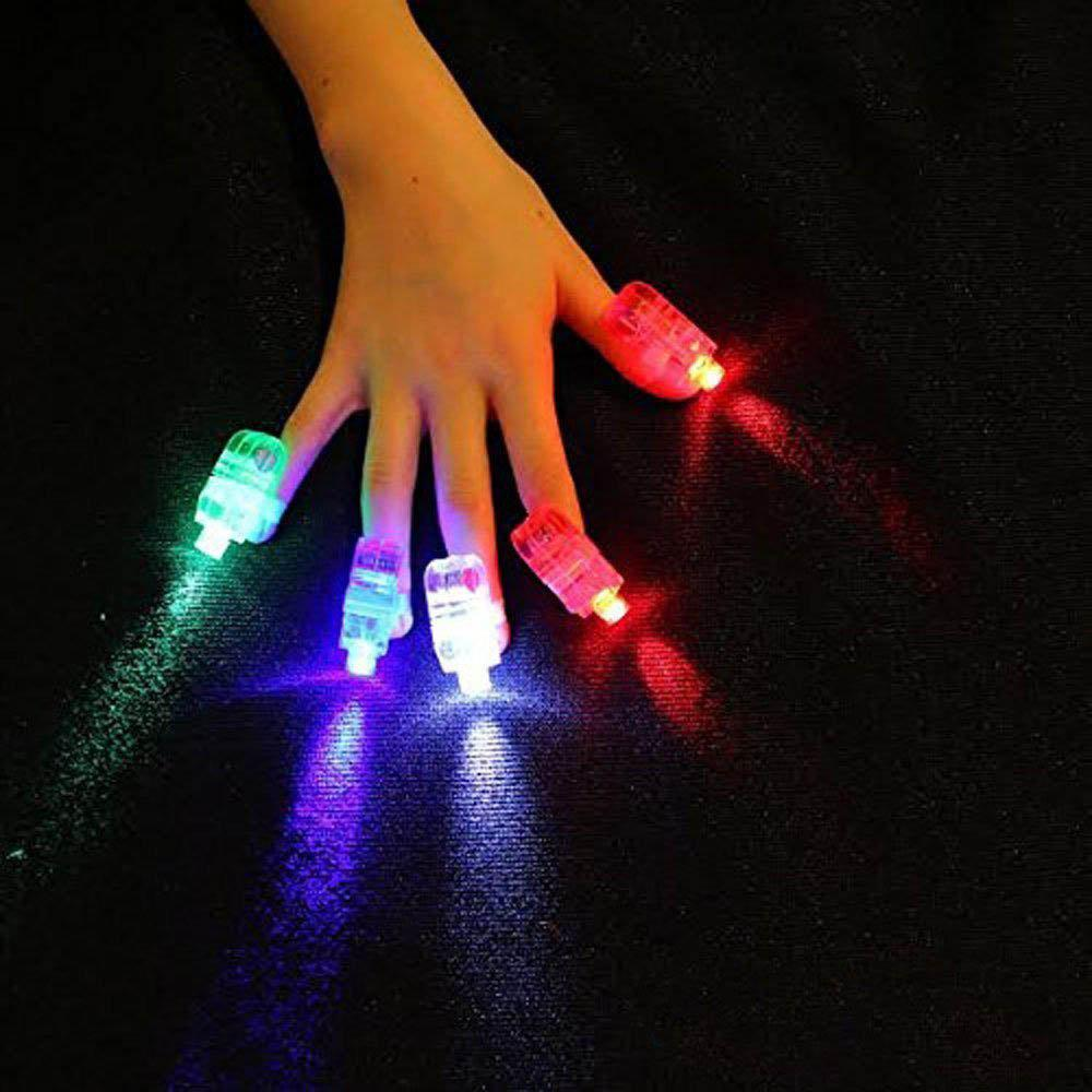 Generic Bling Colorful 4pcs LED Finger Lamps Super Bright Finger Flashlights Rave Finger Lights