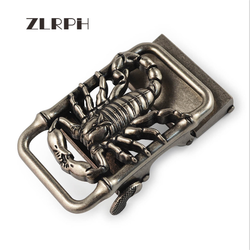 ZLRPH High-grade Retro Alloy Automatic Buckle Antique Do Old Buckle Head Three-dimensional Buckle Wholesale