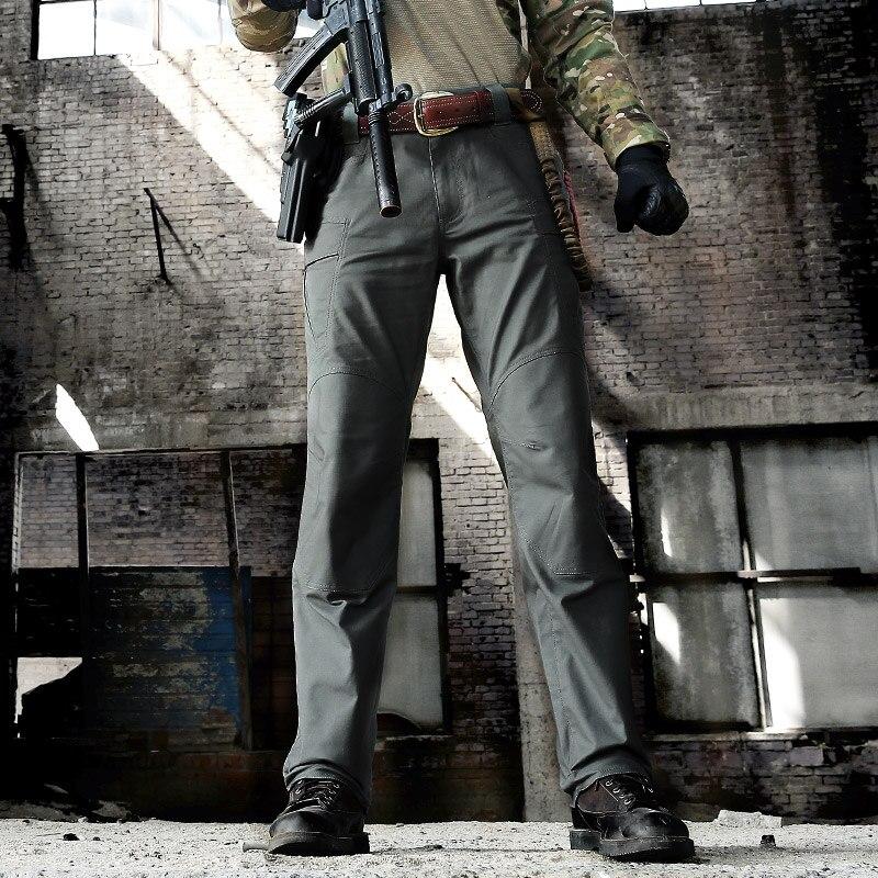 Security Gear SWAT Combat Military Tactical Pants Men Large Pocket Army Cargo Pants Casual Cotton Bodyguard Militar Trousers