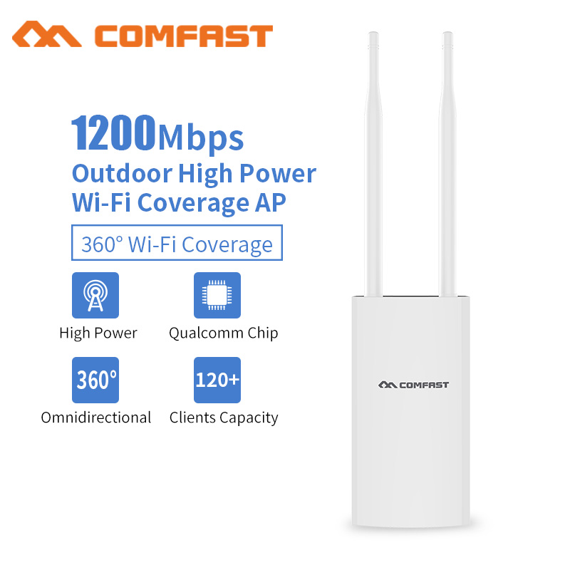 Image 3 - Comfast 1200 Мбит/с CF EW72 Двухдиапазонная 5 г высокая мощность открытый AP всенаправленная точка доступа Wifi базовая станция антенна AP-in Беспроводные маршрутизаторы from Компьютер и офис on AliExpress
