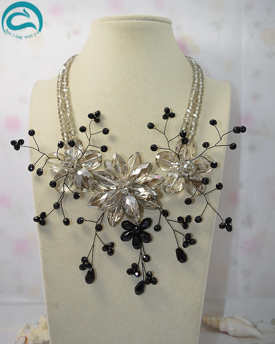 New Arriver Flower Jewellery 2Rows Perfect Crystal Flower Necklace,Handmade Fashion Women Party Birthday GiftNew Arriver Flower Jewellery 2Rows Perfect Crystal Flower Necklace,Handmade Fashion Women Party Birthday Gift