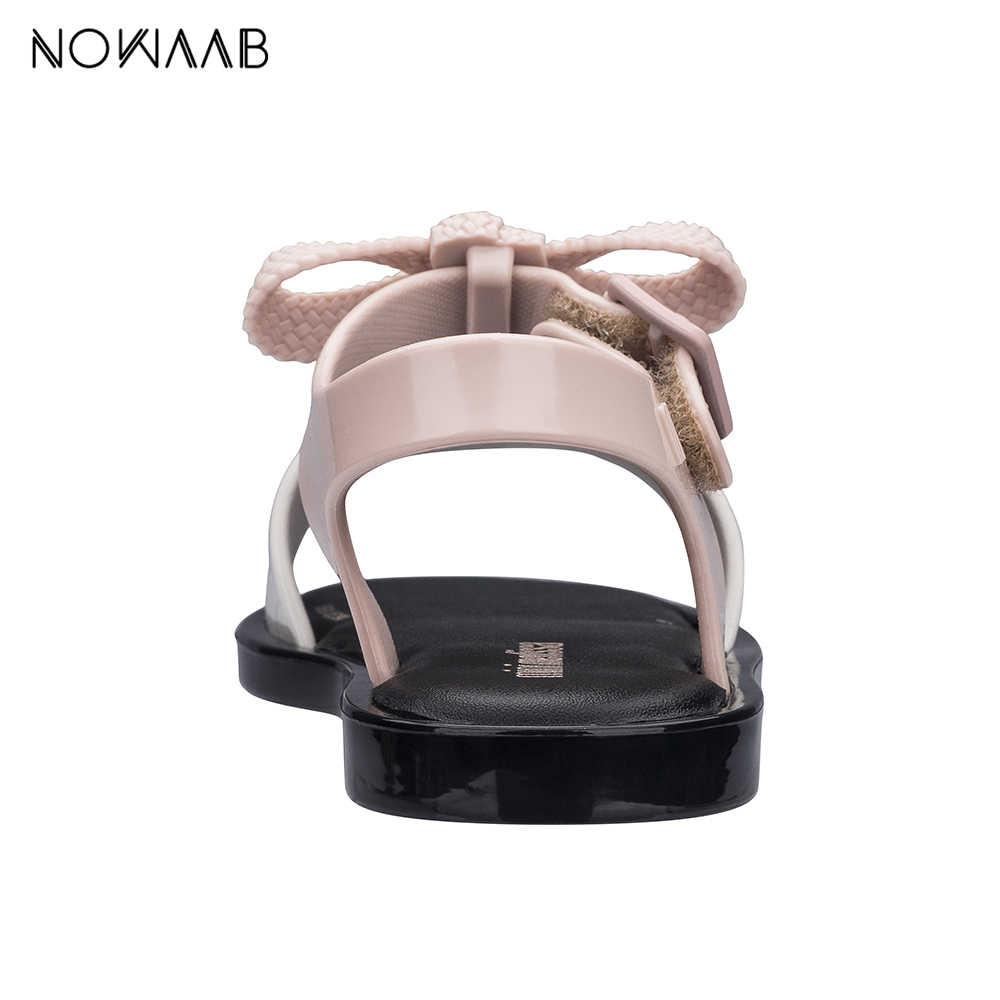 Мини Melissa/детские туфли Новинка 2019 года; летняя прозрачная обувь для мальчиков и девочек; сандалии на шнурки для девочки; Детские пляжные сандалии; обувь для малышей